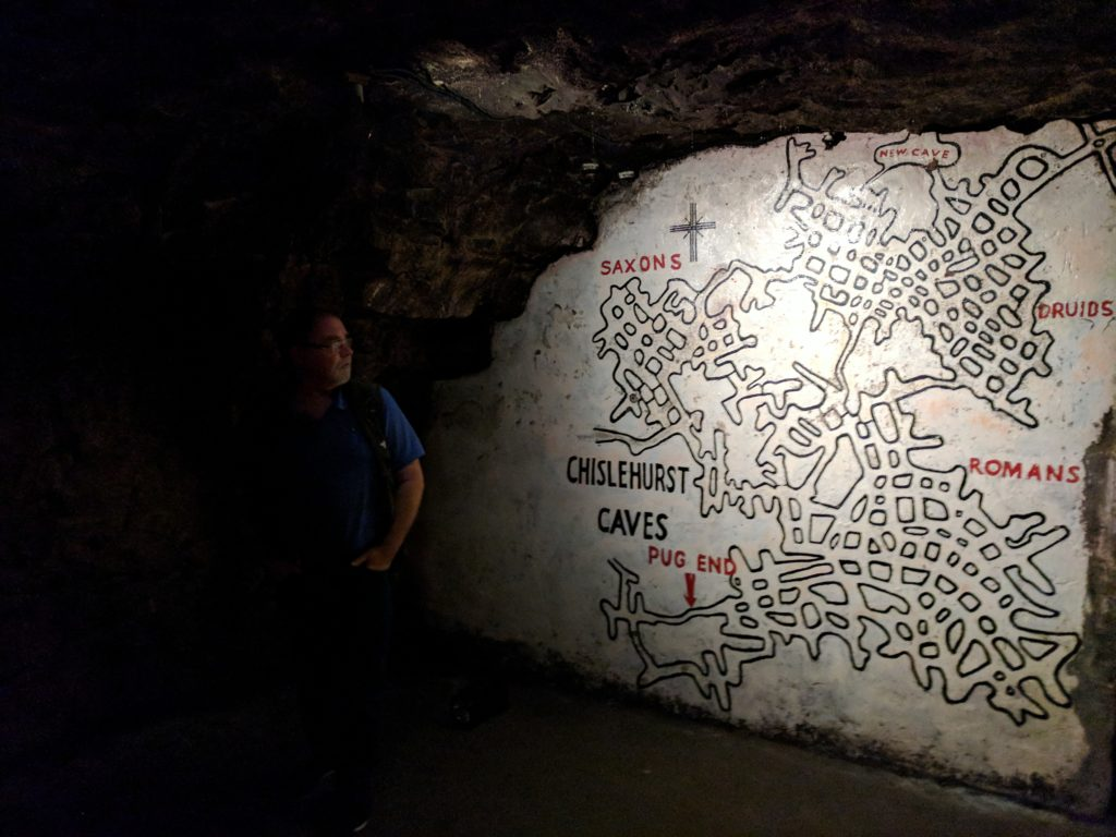 The map of Chislehurst Caverns that you can use to get yourself un-lost if you get lost down there. Of course, you won't find your way out and you'll die down there like the other folks who haunt this place.