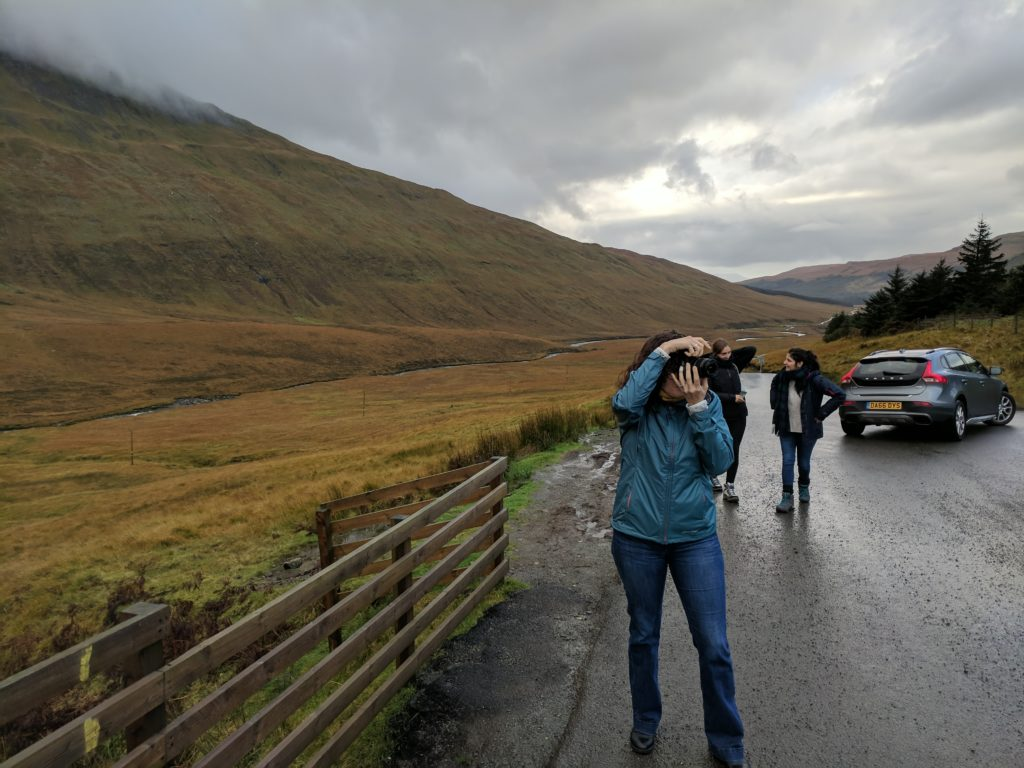 Sarah shootin photos at the Fairy Pools
