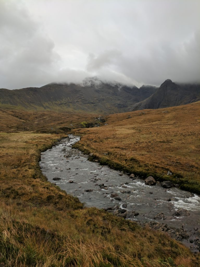 The stream along the Fairy Pools hike