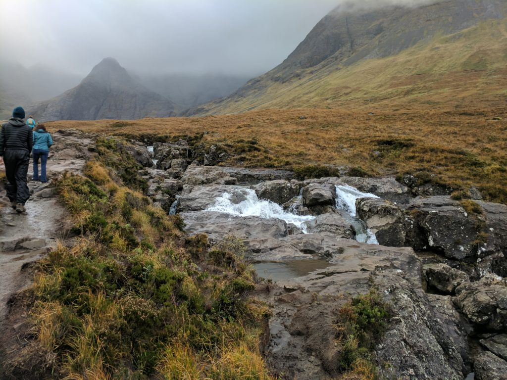 Fairy Pools flowing into each other