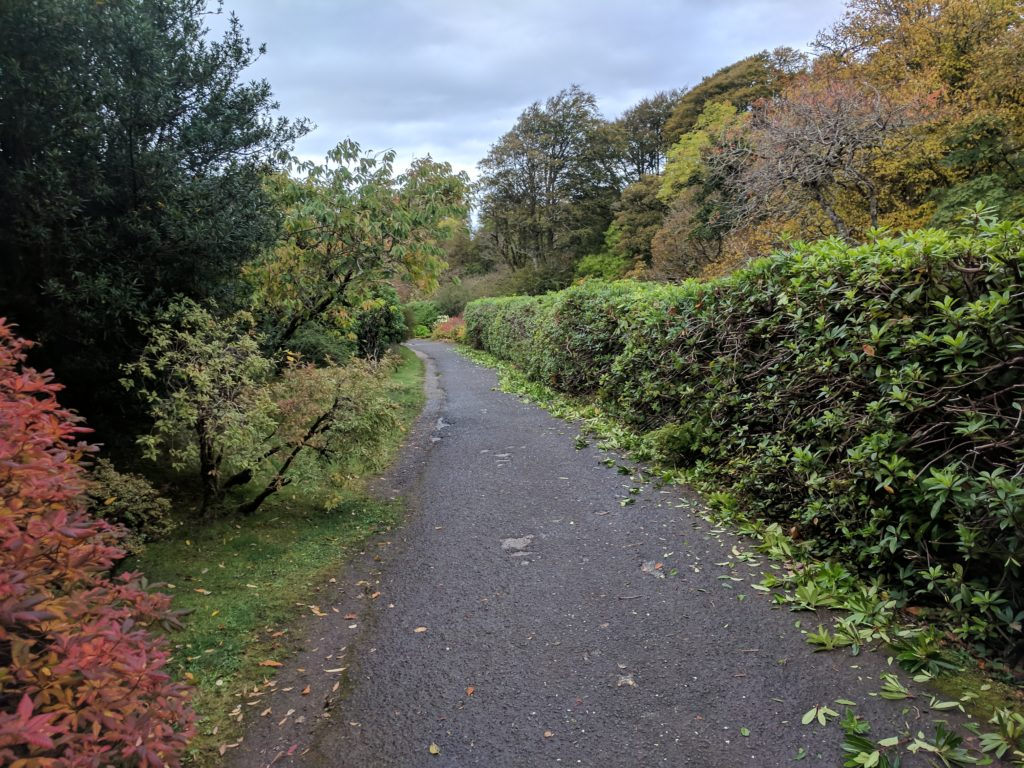 Walking past the gardens towards the entrance to Dunvegan Castle