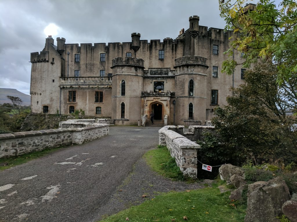 The entrance to Dunvegan Castle