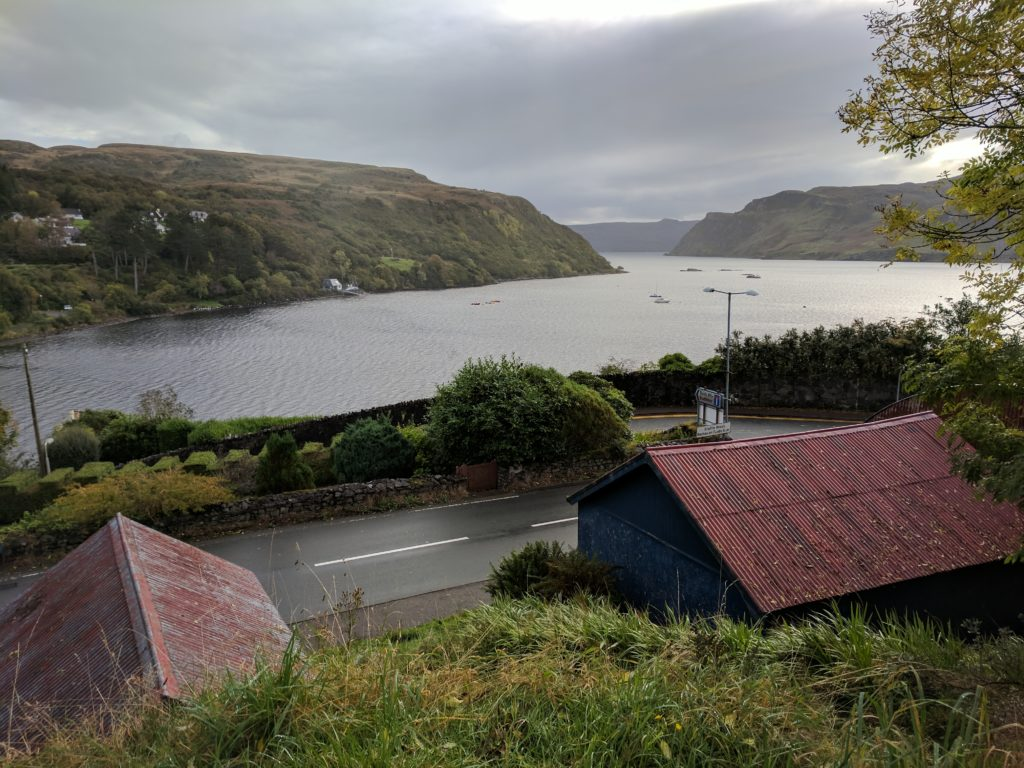 Looking out towards the sea from Portree