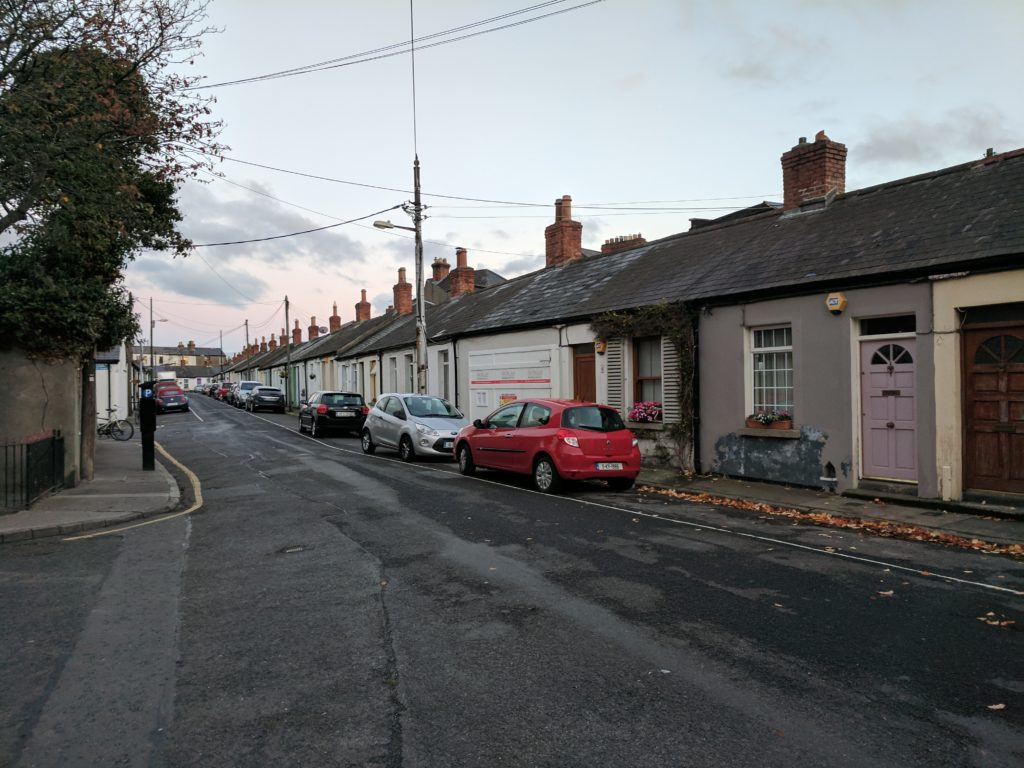 A residential street in downtown Dublin