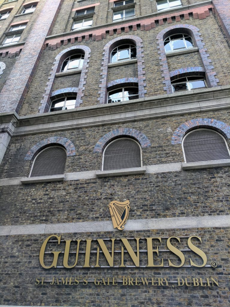The front entrance to Guinness Brewery, Dublin