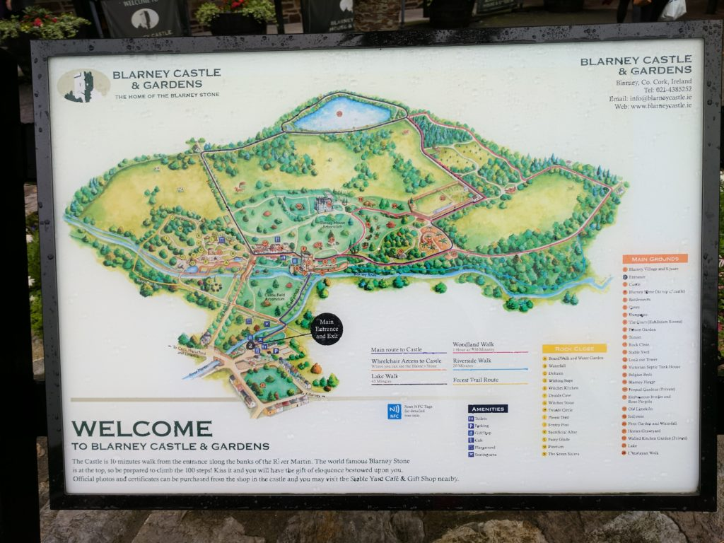 Map of Blarney Castle