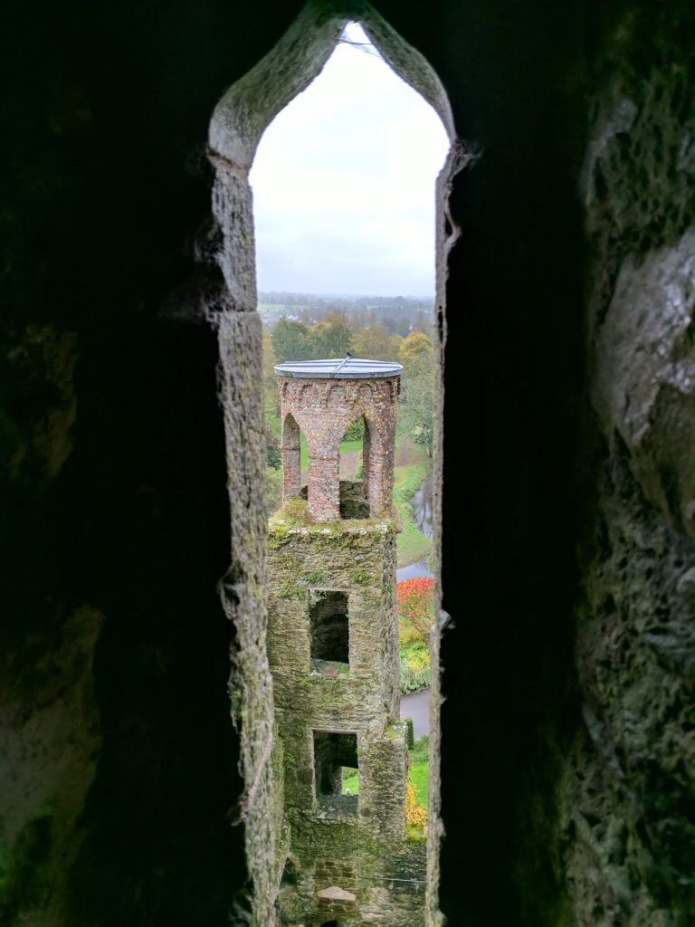 Looking out a window at Blarney Castle